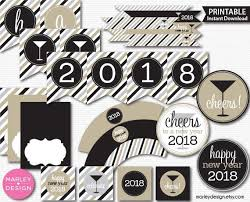 New Years Decorations New Years Party Decor Printable New Years