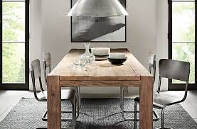 Rustic Dining Table Paired With Modern Chairs Lighting Brilliant Room Sets Intended For