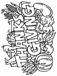 Download Coloring Pages Printable Thanksgiving Page Childrens Free For