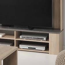 wohnzimmer tv wand in sonoma eiche grau stein optik pharao24