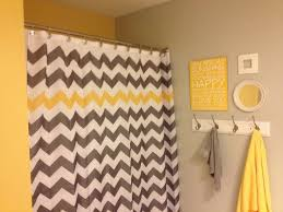 Yellow And Grey Bathroom Window Curtains by Best 25 Gray Chevron Bathroom Ideas On Pinterest Chevron