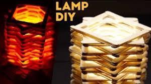 DIY Creative Popsicle Stick Lamp