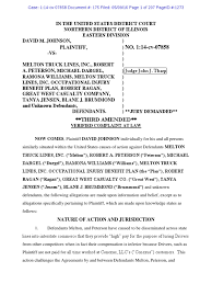 Johnson V. Melton Truck Lines, Inc., 14-cv-07858 THIRD AMENDED ...