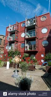 100 Container Dwellings Back Of City Dwellings At Trinity Buoy Wharf Docklands