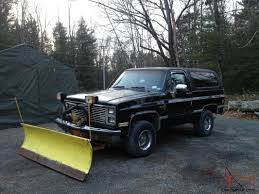 100 Blazer Truck 85 Chevy Blazerk5 Plow Truck With 84 Gmc Parts Truck