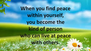 Finding Peace Within Part I