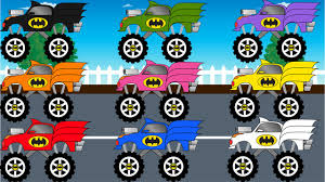 100 Monster Truck Batman Coloring Learn Colors With