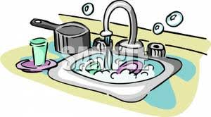 Clean Kitchen Sink Clipart 1