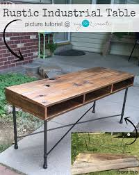 Learn to make your own beautiful Rustic Industrial Table with