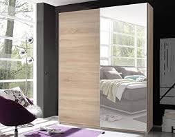 schwebetürenschrank victor 2 kleiderschrank schrank schlafzimmer eiche sonoma spiegel 170cm