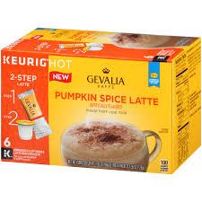 Keurig Pumpkin Spice by Gevalia Pumpkin Spice Latte Espresso K Cup Pods U0026 Latte Froth