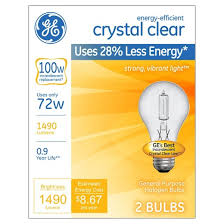 ge 100 watt energy efficient halogen light bulb 2 pack soft