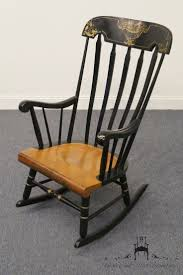 Nichols And Stone Windsor Rocking Chair by Tell City Gold U0026 Black Boston Rocker Rocking Chair No 660 Ebay