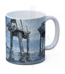 ceramic mug white battle of hoth from wars