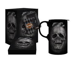amazon com harley davidson tall boy travel latte mug h d skull