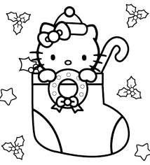 Coloring Hello Kitty Pages Colouring To Print For Cats Christmas Kitten Color Page