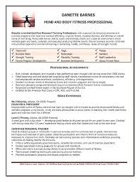 Yoga Instructor Resume Teacher A Personal Trainer Example