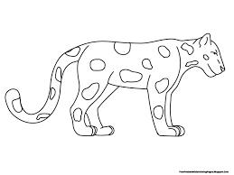 Standing Jaguar Free Printable Kids Coloring Pages