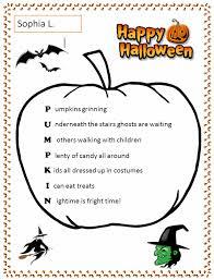 Poems About Halloween For Kindergarten by Halloween Pumpkin Acrostic Template