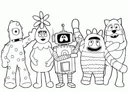 Yo Gabba Coloring Pages