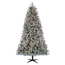 Flocked Downswept Christmas Trees by National Tree Company Pre Lit Christmas Trees Artificial