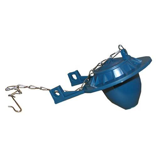 Larsen Supply 04-1585 Blue Chemical Resistant Tank Flapper With Chain