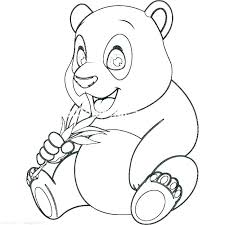 Coloring Pages That Are Cute Of Pandas Baby Panda Dragoart Animals