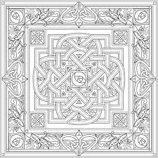 Creative Haven Deluxe Edition Celtic Nature Coloring Book 6 Sample Pages