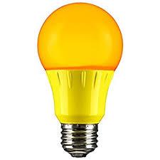 sunlite 80149 yellow led a19 3 watt medium base 120