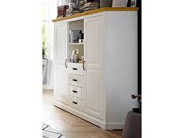 niehoff sitzmöbel malmö highboard 2244 mit korpus in lack weiß und abdeckplatte in wildeiche massivholz anrichte mit schubkästen und türen ideal für