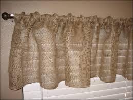 Smocked Burlap Curtain Panels by Luxury Kitchen Curtain Panels Taste