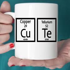 Funny Coffee Mug Periodic Table Cute With Saying