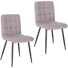 lestarain esszimmerstühle 2 stücke 2er set küchenstuhl polsterstuhl wohnzimmerstuhl sessel mit rückenlehne metallbeine sitzfläche aus leinen
