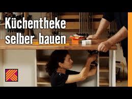 küchentheke selber bauen anleitung hornbach