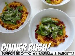 Pumpkin Risotto Recipe Easy by Dinner Rush Pumpkin Risotto With Pancetta U0026 Arugula Devour