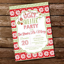 Ugly Sweater Christmas Party Invitation Sunshine Parties
