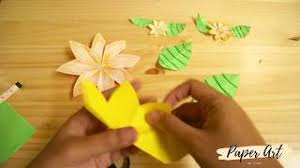 By Paper Art DIY Easy Origami Flower And Leaf For Kids