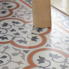PVC Vinyl Mat Carpet Tiles Pattern Decorative Linoleum Rug Orange And Gray 179 FREE Shipping