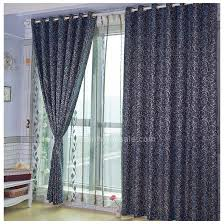 Front Door Side Panel Curtains by Charming Royal Blue Jacquard Front Door Sidelight Curtains