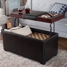 Storage ottoman coffee table is good grey leather ottoman coffee