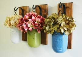 Wall Decor Individual Hanging Painted Mason Jars Rustic
