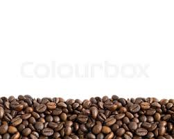 Coffee Beans Border With Copy Space Stock Photo
