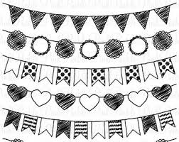 White Clipart Pennant Banner Pencil And In Color White Clipart for Pennant Banner Clipart Black