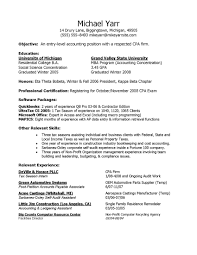 Sample Of Accounting Resume Entry Level Position New Objective Example Free For Download