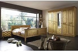 schlafzimmer komplett meran 4er set kiefer massiv gelaugt