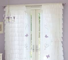 Pink And Purple Ruffle Curtains by I Want These Curtains For The Girls Room I Love The Ruffles