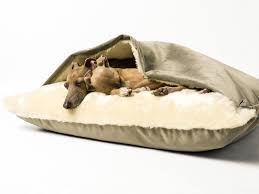 Burrowing Dog Bed by Charlie Chau Pet Snuggle Bed In Velour Fletcher Of London
