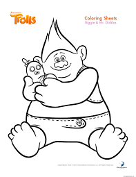 Biggie And Mr Dinkles Trolls Coloring Pages