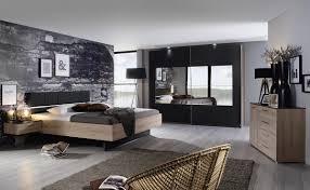 schlafzimmer tosca komplettzimmer dunkle front eichefarbene graphit kunststoffoberflächen vierteilig schwebetürens