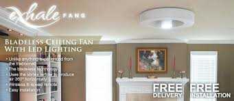 Bladeless Ceiling Fan With Led Light by Exhale Ceiling Fan Ceiling Fan Photo 4 Exhale Bladeless Ceiling